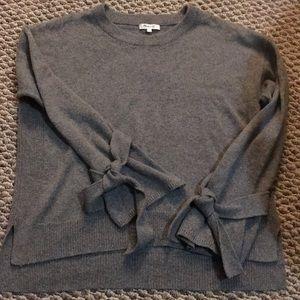 Madewell Tie-Sleeve Sweater